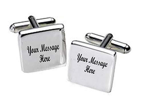 Bespoke Nachricht Manschettenknöpfe für jeden Anlass mit eigener Gravur Nachricht