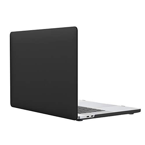 MoKo MacBook Pro 13 Case 2018/2017/2016, Slim PC Matte Frost Hard Shell Protective Cover for 2018/2017/2016 MacBook Pro 13 Inch A1706/A1708 (with/Without Touch Bar), Black