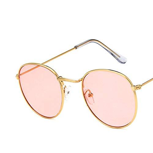 Yangjing-hl Alloy Sonnenbrillen/HerrenMarkendesigner LuxusbrilleLady Round Sun Glasses Street BeatGafas