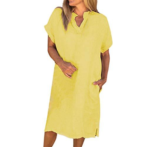n Lange Bluse unregelmäßiger Rand Buttons lose beiläufige Weinlese-Spitzen-Hemd-Kleid ()