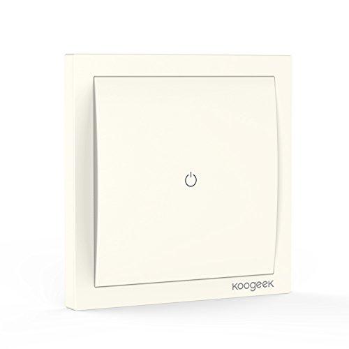 Koogeek Wifi Smart Lichtschalter 220 ~ 240V funktioniert mit Apple HomeKit Unterstützung Siri Fernbedienung (One-Way-Light Schalte)【Note:A neutral wire is required.】 Wire 3-way Light Switch