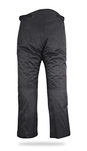 Nero, 48 Regolare//Vita 32 Lunghezza 32 JET Pantaloni moto impermiabile con larmatura Zippwe M
