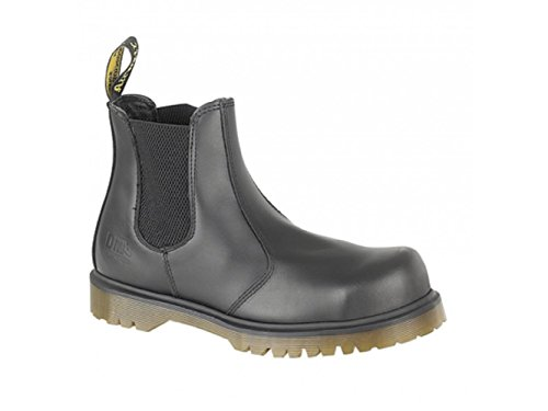 Dr. Martens Men's Industrial Chelsea BootSafety Toe Cap Black Haircell Leather