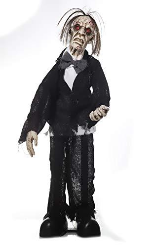 Halloween ''Zombie Butler'' animiert | Halloween Deko | Party Zubehör | Geister | Skelett | Halloween Accessoires | Butler | Gespenst | Zombies | Grusel Deko | Party Ausstattung | Hänge Deko | Preis am Stiel