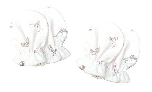 Need4Baby 2 Paar Kratzfäustling Baby Handschuhe für Mädchen 0-6 M