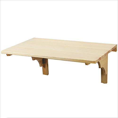 Mesa para portátil Mesa plegable de madera maciza Mesa de pared ...
