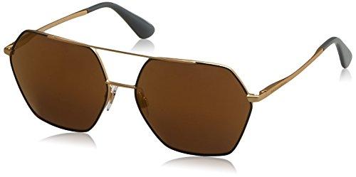 Dolce & Gabbana Damen 0DG2157 129713 59 Sonnenbrille, Gold/Browngradient