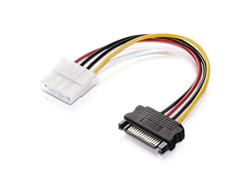 adaptare 34102 Netzteil-Adapter-Kabel 15-polig SATA-Anschluss auf 4-polig IDE schwarz