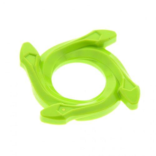 1 x Lego System Ninjago Spinner Ring Krone 4x4 lime hell grün 4 Schlangen Kopf Radkappen Set 9445 9443 98342