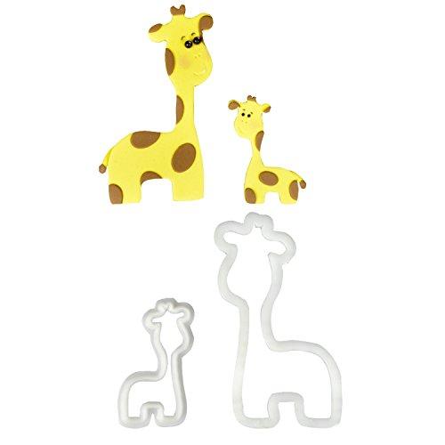 cher Set | Babygiraffe | Safari | Savanne | Tortendeko | für Fondant und Blütenpaste ()