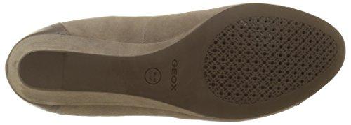 Geox D Floralie A, Scarpe con Plateau Donna Beige (SMOKE GREYC9006)