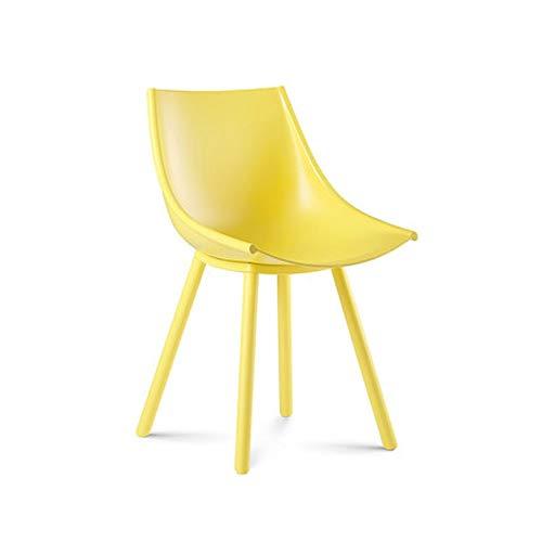 ZHIYE Seidenstühle Freizeitstühle Plastik Esszimmerstühle Kaffeestühle Schreibtische und Stühle Anti-UV Anti-Aging Fit Hips erhältlich (Farbe : Gelb) -
