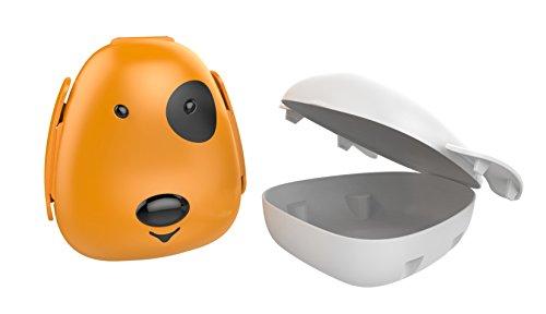Haixing Dog Shaped Plastic  Lunch Box, 200ml, Multicolour