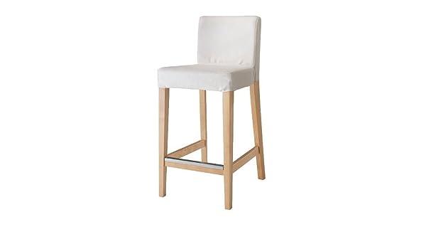 Ikea henriksdal sgabello con schienale in betulla gobo bianco