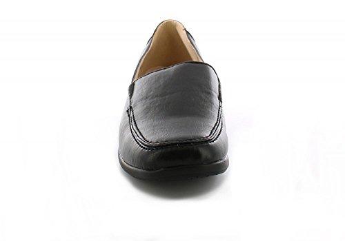 Femmes Dr Keller SORTIE Compensées à talon À Enfiler Chaussures Décontractées Confortable Noir