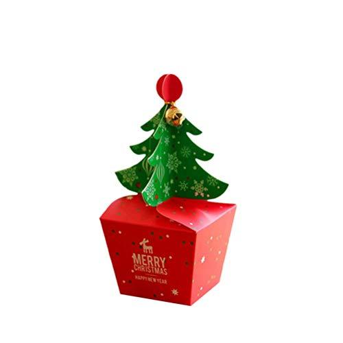 eihnachten Apple Box Weihnachten geschenkbox Weihnachten süßigkeiten Fall für Weihnachten Urlaub größe s ()