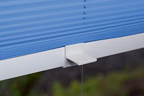 VICTORIA M Plissee Klemmfix ohne Bohren – EasyFix Größe: 60 x 200 cm, Farbe: blau - 3