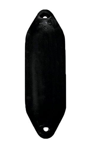 Ocean Fender Ø100mm x 330mm schwarz PVC Langfender für Boote 0-3m
