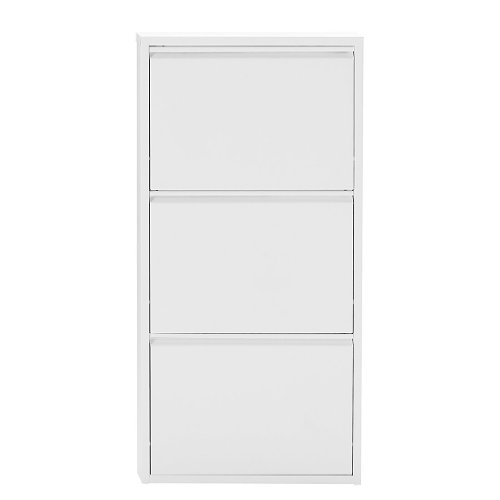Magazin-Möbel Simple.*M* 4001070443373 Schuhklapper, 50 x 15 x 171 cm, Metall, Weiß