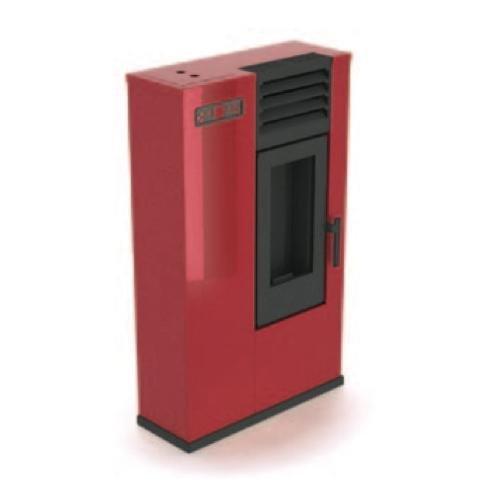 Eva Calor–Pelletofen Susy Leistung 7.5kW Wärme Farbe Rot