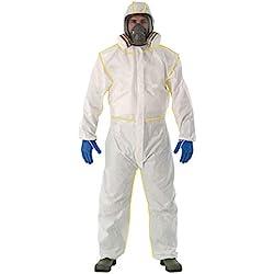 Heatile Traje de protección química Tela Super Gruesa Piel Suave Adecuado para protección contra Incendios, petróleo, química, Militar, metalurgia y Otras Industrias (Sin máscara de Gas),XL