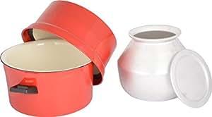 BISMI Aluminum Choodarapetty (4 Litres), Red