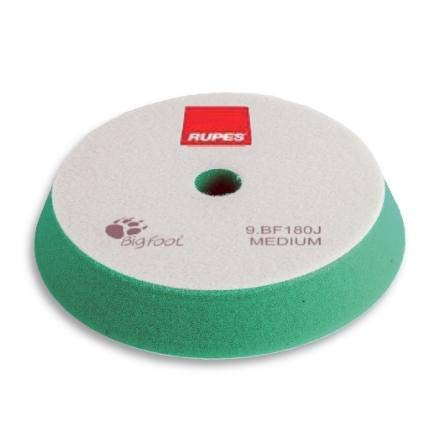 Rupes BigFoot, Polierschwamm, Klett, 150 / 180 mm, 1 Stück, Pad zum polieren mit Poliermaschine zur Lack Aufbereitung (GRÜN - MITTEL - MEDIUM)