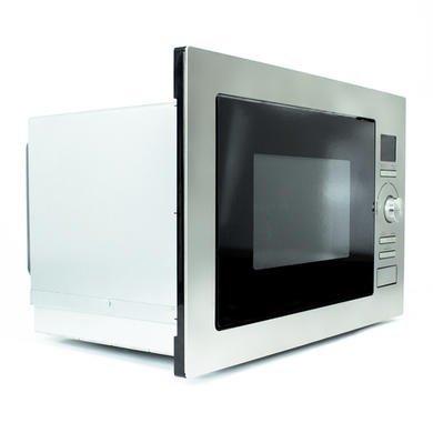 ElectrIQ 25L Frameless Built-in digital combi Microwave in Stainless Steel