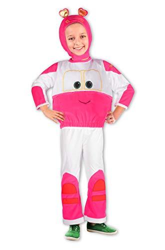 Ciao Sally Trenino Robot Trains Kostüm für Kinder, 4-5 Jahre, Rosa, Weiß, 11266.4-5
