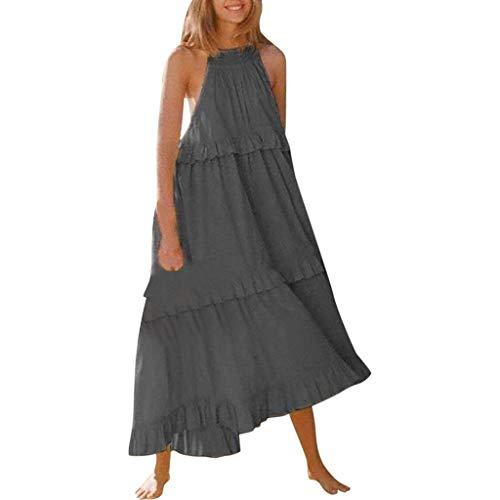 Boatneck Pullover Kleid (Markthym Frauen Arbeiten reizvolles Normallack-Loses Kuchen-ärmelloses Kleid um Neues ärmelloses, lässiges Neckholder-Kleid mit großen Nähten)