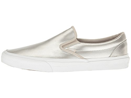 Vans U CLASSIC SLIP-ON, Sneaker Unisex Adulto (Metallic) Silver/White