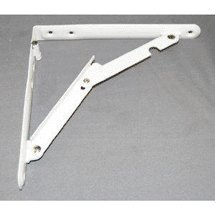 Ultra Hardware 11030 16 X 16 Deluxe Heavy Duty Steel Folding Shelf Bracket, White, by Ultra (Shelf Hardware Folding)