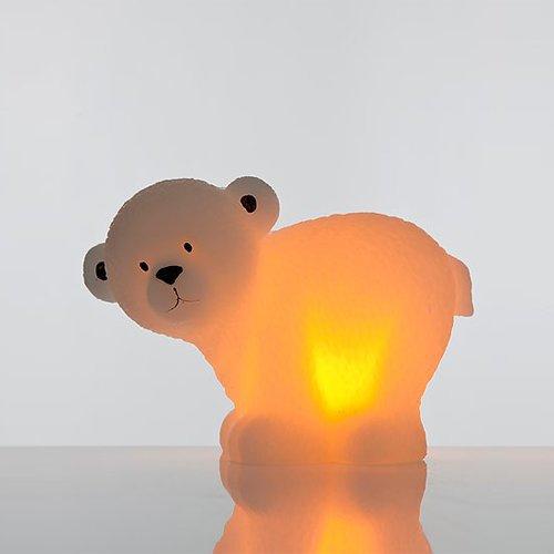 Orso polare xl con illuminazione a led e timer–candele in cera con batterie e luce tremolante