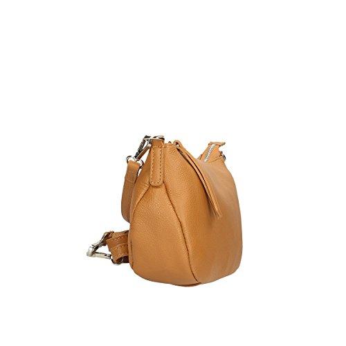 Chicca Borse Borsa a tracolla in pelle 26x16x8 100% Genuine Leather Cuoio