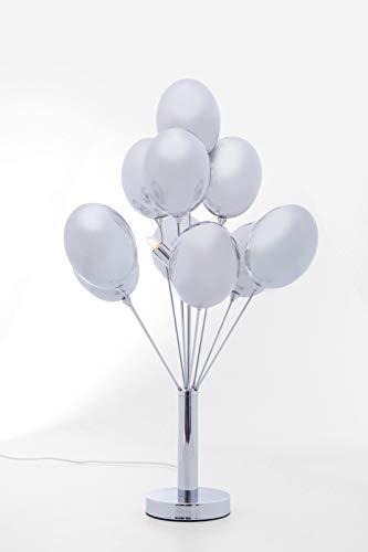 Kare Design Tischleuchte Balloons, Tischlampe, kleine Nachttischleuchte, Silber (H/B/T) 68x36x36cm