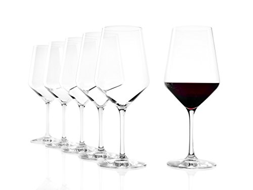 Stölzle Lausitz Rotweinglas Bordeaux Revolution, 650 ml, 6er Set Weinglas, hoch funktionelle...