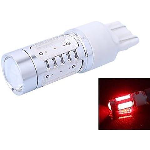 LIROOTT20-7443-11W-R-12V T20 11W 350lm 625nm a 5 LED rosso LED per auto luce freno (DC12-24V, 1pz)