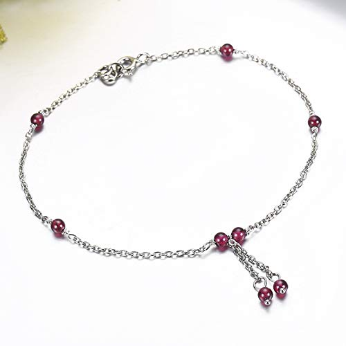 Imagen de xhbhp slim 925 sterling silver cross chain red red beads charms bracelets pulseras pulseira accessoires bracelete women best friend