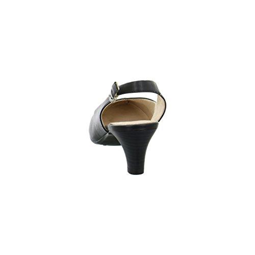 Caprice Damen 29699 Slingback Black Nappa
