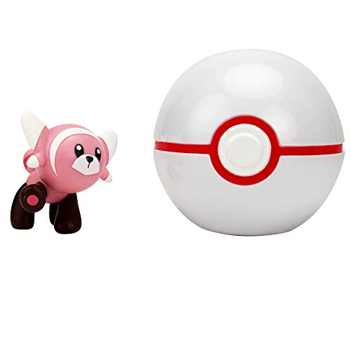 Pokémon 35924 VELURSI & PREMIERBALL, Spielset mit Original Pokemonfigur 5 cm und Pokéball für Clip N Go Gürtel, Set mit Pokeball und Pokemon Figur für Pokemontrainer ab 4 Jahre, Trainer