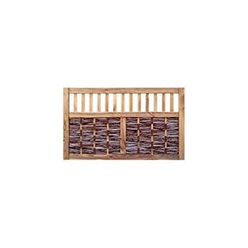 garten sichtschutz trennwand aus weide und holz modulares system 180 x 180 cm. Black Bedroom Furniture Sets. Home Design Ideas