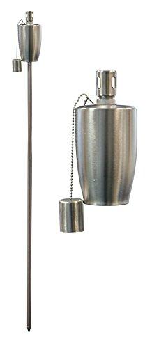 Harbour Housewares Torcia/Lanterna a Fiamma, da Giardino, a Olio/Paraffina, Design a Botte, da 1.460 mm