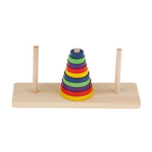 YTYCJSFH - Torres de Madera Tradicionales, Juguetes para niños, Juegos de Gimnasia, Juguetes Divertidos para la Familia, Regalo de Madera de 10 etapas para niños