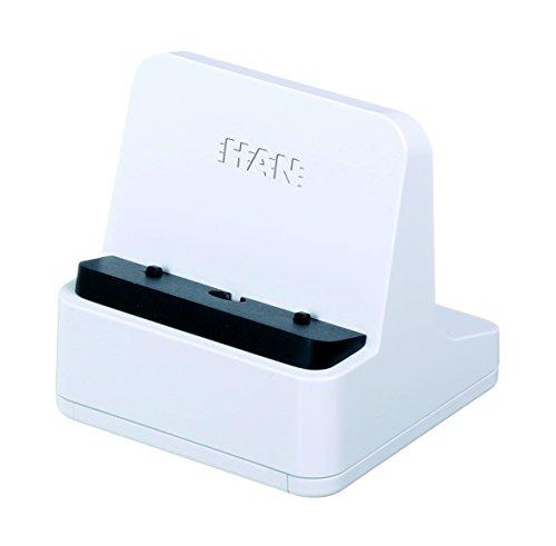 HAN Smartphone Ständer smart-Line 92130-12 in Weiß - Praktische Smartphone Halterung für das Büro - Handyhalterung mit 3 Adaptern für alle gängigen Smartphones Iii Handy
