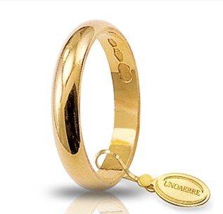 Fede Nuziale Unoaerre Classica fascia larga da 3 grammi oro giallo 18kt