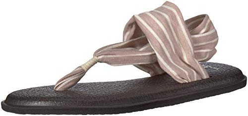 Sanuk Women's Yoga Sling 2 Prints Flip Flop,Tan/Natural Stripes,11 M US -