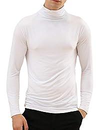 Hibote Uomo Set Intimo Termico Maglia Alta qualità T-Shirt Maniche Lunghe    Pantaloni Invernali 80427c7eabff