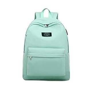 Joymoze Mochila de Color Puro para Niña con Funda para Portátil de 15,6 Pulgadas Cartera Escolar para Adolescente