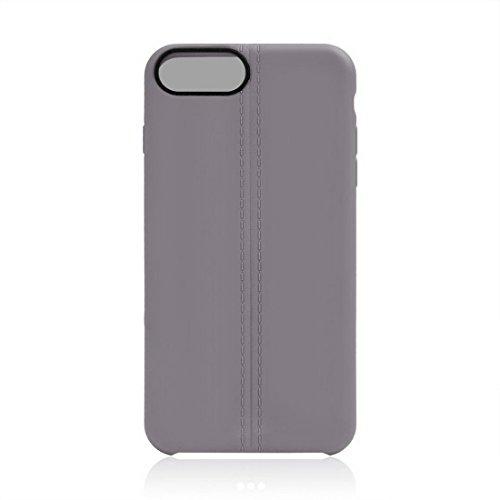 iPhone Case Cover Pour iPhone 7 Plus Central Doubles Lignes Surface Douce TPU Housse de Protection ( Color : Apricot ) Grey