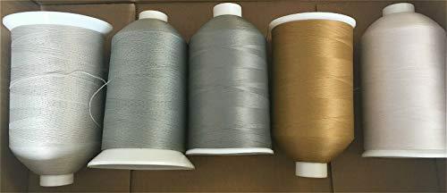 5 Rollen gemischte Neutrale Bulk 80s Nylon Wolle Overlock-Nähgarn 7000 m für £12.99 Multi